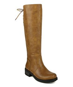 Look what I found on #zulily! Camel Leslie Tall Riding Boot #zulilyfinds