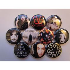 BVB Black Veil Brides Pinback Buttons Badges Pins (10 Pin Pack) ($3.99) ❤ liked on Polyvore featuring jewelry, brooches, pins, accessories, buttons, bvb, button jewelry, bridal jewelry, pin jewelry and pin brooch