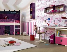 Monster High Bedroom Decor Fresh Pin On Habitacion Con Estilo Country Cottage Living Room, Living Room Grey, Home Bedroom, Kids Bedroom, Bedroom Decor, Kids Rooms, Bedroom Ideas, Office Wallpaper, Kids Wallpaper