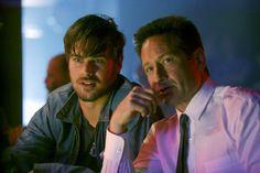 Still of David Duchovny and Grey Damon in Aquarius (2015)