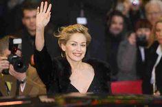 Sharon Stone Chris Pine support Jeff Bridges at hand and footprint ceremony  #SharonStone #JeffBridges #ChrisPine