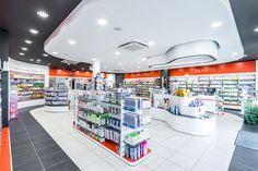 Pharmacie Cousein - Mazé (49) Pharmacy Store, Retail Design, Store Design, Interior Design, Interior Ideas, Architecture Design, Pills, Shopping, Convenience Store