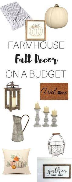 Farmhouse Fall Decor on a budget