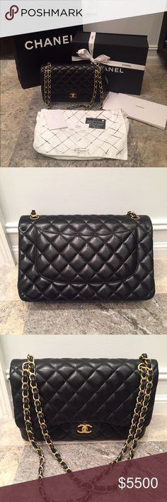 Chanel black lambskin jumbo Chanel black lambskin jumbo. Purchased from the  chanel boutique and comes f4fd8bae02d92