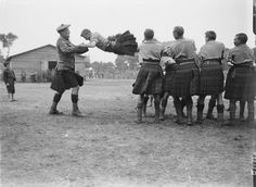 9th H.L.I. (Glasgow Highlanders) 100th Brigade, 33rd Division. A Physical Training Game. Chyvelde, 6th August 1917.