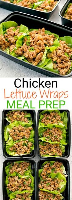 PF Chang's-style chicken lettuce wraps are a delicious, low carb and easy weekly meal prep.