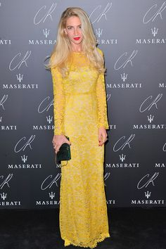 CR Fashion Book Party - The Best Looks of the CR Fashion Book Party at Paris Fashion Week - Elle I like this dress it goes well with her hair makes blonds look more golden =)