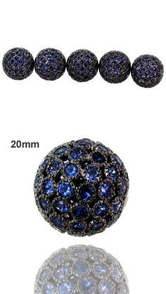 Spacers 67713: Iolite Gemstone Pave Ball Bead Spacer .925 Sterling Silver Jewelry Finding 20 Mm -> BUY IT NOW ONLY: $99 on eBay!
