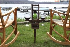 DIY Outdoor Wine Caddy Plans - Rogue Engineer