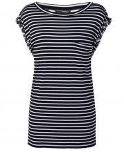 House of Dereon Stripe T shirt with pearl trim black and white- £21.99
