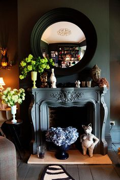 Fireplace mantels by Abigail Ahern - desire to inspire - desiretoinspire.net