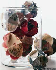 Pin for Later: 221 Upcycling Ideas That Will Blow Your Mind Card Ornaments Make holiday ornaments from old Christmas cards. It's such a perfect and meaningful way to upcycle your old greeting cards.  Source: Martha Stewart