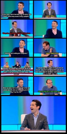 love dry humor - especially when it's from the Brits. British Humor, British Comedy, Jon Richardson, 8 Out Of 10 Cats, We Are Bears, Growing Up British, Dry Humor, Funny Quotes, Funny Memes