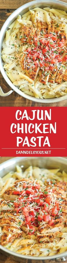 Cajun Chicken Pasta - Chili's copycat recipe made at home with an amazingly creamy melt-in-your-mouth alfredo sauce. And you know it… (italian pasta recipes milk) New Recipes, Cooking Recipes, Favorite Recipes, Healthy Recipes, Recipies, Vegetarian Recipes, Chilis Cajun Chicken Pasta, Cajin Chicken Pasta, Chicken Chili