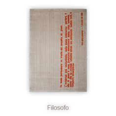 FILOSOFO - Pietro Derossi - Nodus Rug