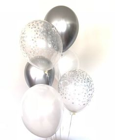 Silver Party Decorations, Sweet 16 Decorations, Prom Decor, Engagement Party Decorations, Balloon Decorations Party, Bridal Shower Decorations, Birthday Decorations, Baloon Decor, Christmas Decorations