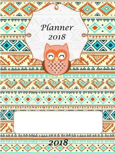 Caderno de Planejamento 2018 - Tema Corujinhas - Aluno On Book Journal, Bullet Journal, Planner 2018, First Day Of School, Book Illustration, Quilt Blocks, Classroom, Kids Rugs, Quilts