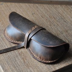 Hand Stitched Vintage Leather Glasses Case by FocusmanLeather, $39.99  too cool.
