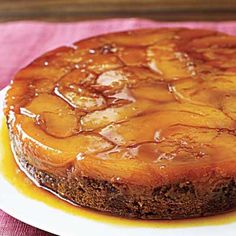 Upside-Down Quince Gingerbread Cake