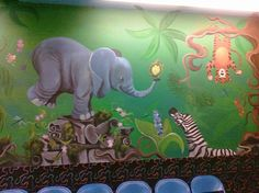Children's Educational 3D Illustrated Murals by Natalie Adams, via Behance