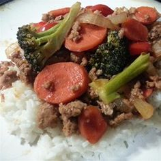 """Sweet and Sour Ground Pork Stir-Fry 