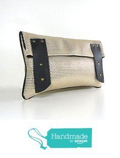 "PIECE UNIQUE _ Pochette main femme ""Calista"" en simili cuir métal or et cuir noir à partir des 2 Be or Not ? https://www.amazon.fr/dp/B01N9GLGWM/ref=hnd_sw_r_pi_awdo_9kswybDWT78TE #handmadeatamazon"