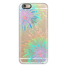 Want to find the best laptop for writers? Check out the article he http://trifty.co/laptop-for-writers/  iPhone 6 Plus/6/5/5s/5c Case - New Year's Radiant Rainbow Fireworks -... (£27) ❤ liked on Polyvore featuring accessories, tech accessories, phones, phone cases, iphone case, rainbow iphone case, iphone cover case, apple iphone cases and transparent iphone case