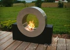 Not designed for dogs to jump through! This is an ultra modern outdoor fireplace, be prepared to wow your friends and family with this unique outdoor biofuel fireplace. No propane required! Biofuel Fireplace, Ethanol Fireplace, Modern Outdoor Fireplace, Outdoor Living, Outdoor Decor, Outdoor Fireplaces, Modern Fireplaces, Indoor Outdoor, Exterior