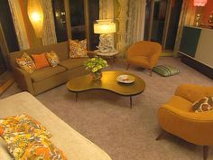 Colorful Retro Family Room : Archive : Home & Garden Television