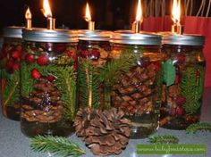 Is there anything you can't make with a Mason jar?! Now you can burn a candle filled with a few of y... - Courtesy of Baby Food Steps