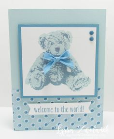 Baby Bear large image design boy card sketches Stampin Up cardmaking Baby Boy Cards, New Baby Cards, Baby Shower Cards, Design Websites, Baby Born Congratulations, Christmas Baby Announcement, Main Image, Bear Card, Card Patterns