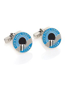Ted Baker Table Tennis Paddle Cufflinks in Blue on http://coolcufflinks.co.uk