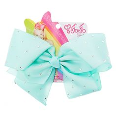 Official JoJo Siwa Large Green Signature Hair Bow Brand New Claire's Jojo Bows, Jojo Siwa Bows, Jojo Siwa Birthday, Birthday List, Birthday Board, Claires Bows, Dance Bows, Birthday Wishes For Myself, Girly