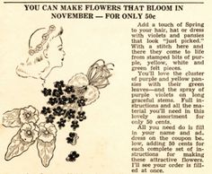 The   Vintage   Pattern   Files: 1930's Sewing - Fabric Flowers