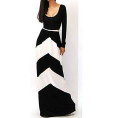 De taylor vrouwen geometrische strepen maxi kiel jurk – EUR € 15.45