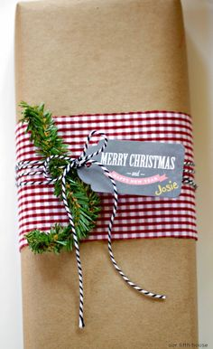 wrapping with fabric scraps