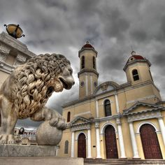 Cienfuegos, Cuba.  Words cannot describe how much I love this cathedral... <3 <3 <3