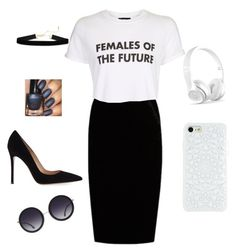 """femails of the future"" by m-morsy ❤ liked on Polyvore featuring Jupe By Jackie, Topshop, Gianvito Rossi and Alice + Olivia"