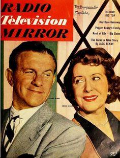 George Burns & Gracie Allen, Radio Television Mirror magazine, September 1951