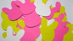 Easter Bunny Peeps Marshmallow Die Cuts by NakedRatDestash on Etsy, $3.50