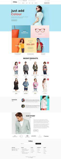 WooCommerce Fashion WordPress Theme - Fashion Plus http://templates.jrstudioweb.com/