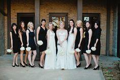 White & Black Bridesmaid Dresses