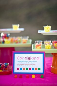 Adore these dessert table printables. #Candyland #birthday #party #printables
