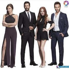 Mujde Uzman, Baris Arduc, Elcin Sangu and Seckin Ozdemir Turkish Men, Turkish Fashion, Turkish Actors, Prettiest Actresses, Beautiful Actresses, Famous In Love, Elcin Sangu, Isla Fisher, Lakme Fashion Week