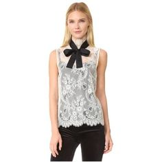 Philosophy di Lorenzo Serafini Sleeveless Lace Blouse (4,070 EGP) ❤ liked on Polyvore featuring tops, blouses, white, high-neck camisoles, white button blouse, high neck cami, white sleeveless blouse and high neck white blouse