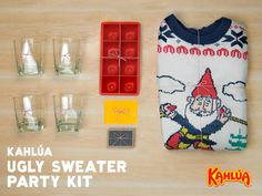 Ugly Sweater Parties are the way forward this holiday season, and they're even better with a batch of Kahlúa cocktails.   Enter our #KahluaHoliday Sweeps for a chance to win your own party kit!