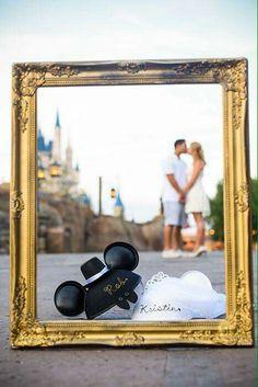 Disney wedding photo