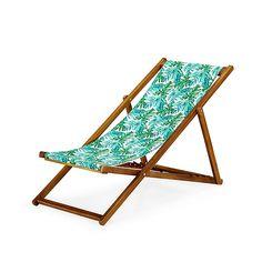 Tropicale Chilienne / Chaise longue de jardin motifs tropicaux forêt