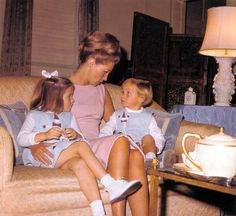 Joan with her two children Kara and Ted Jr.            ❋ ❤❁❤☀❤☀❤❁❤❋ http://en.wikipedia.org/wiki/Kara_Kennedy  http://en.wikipedia.org/wiki/Joan_Bennett_Kennedy  http://en.wikipedia.org/wiki/Edward_M._Kennedy,_Jr.