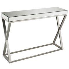 Klein Chrome Console Table
